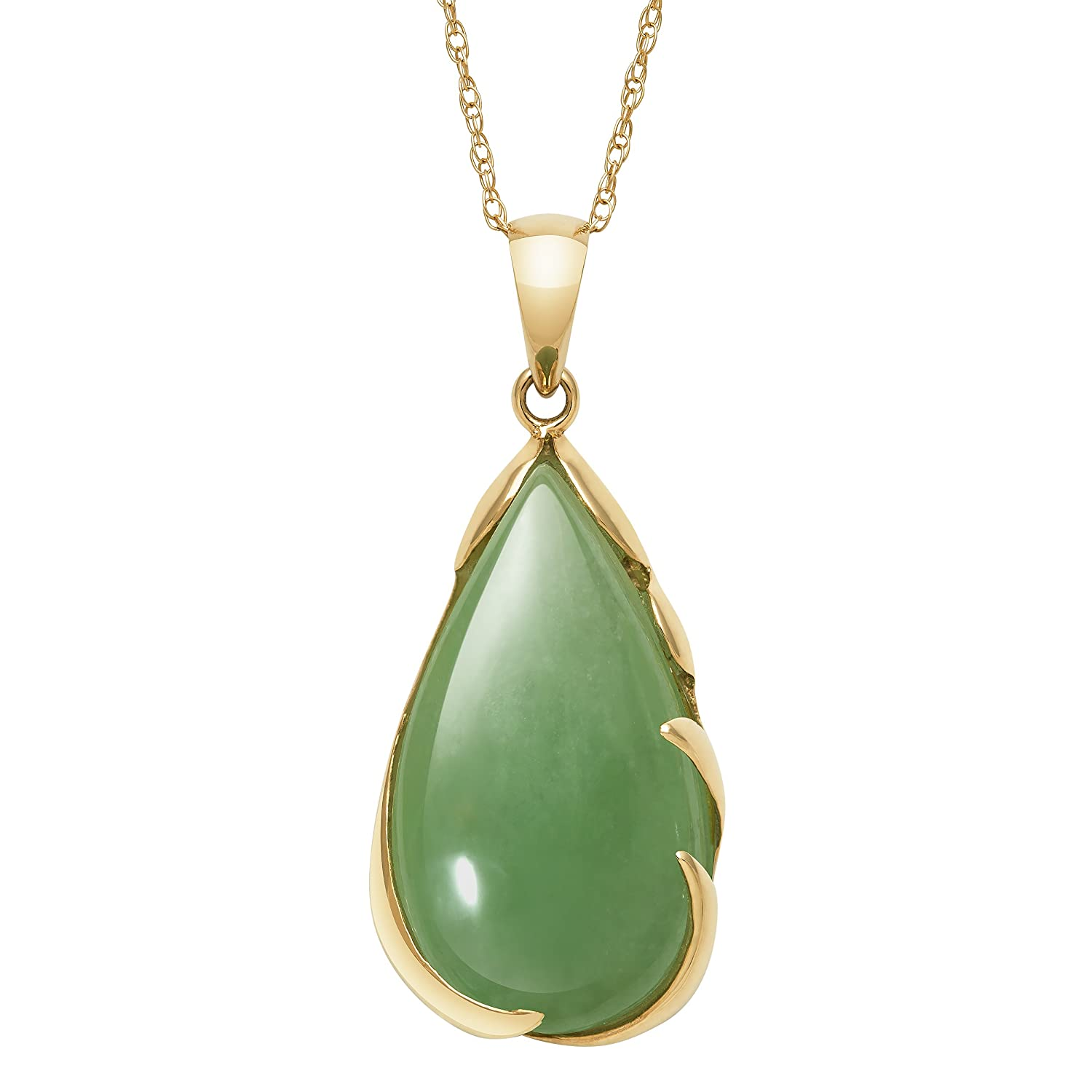necklace chinese yellow luck a pendant gold green jade light