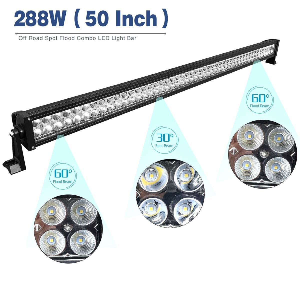 Led Light Bar Yitamotor 50 Inch Combo 2 X 4 Details About Spot Flood Work Driving Wiring Button On Off 18w Pods With Harness Roof Mounting Brackets Compatible For