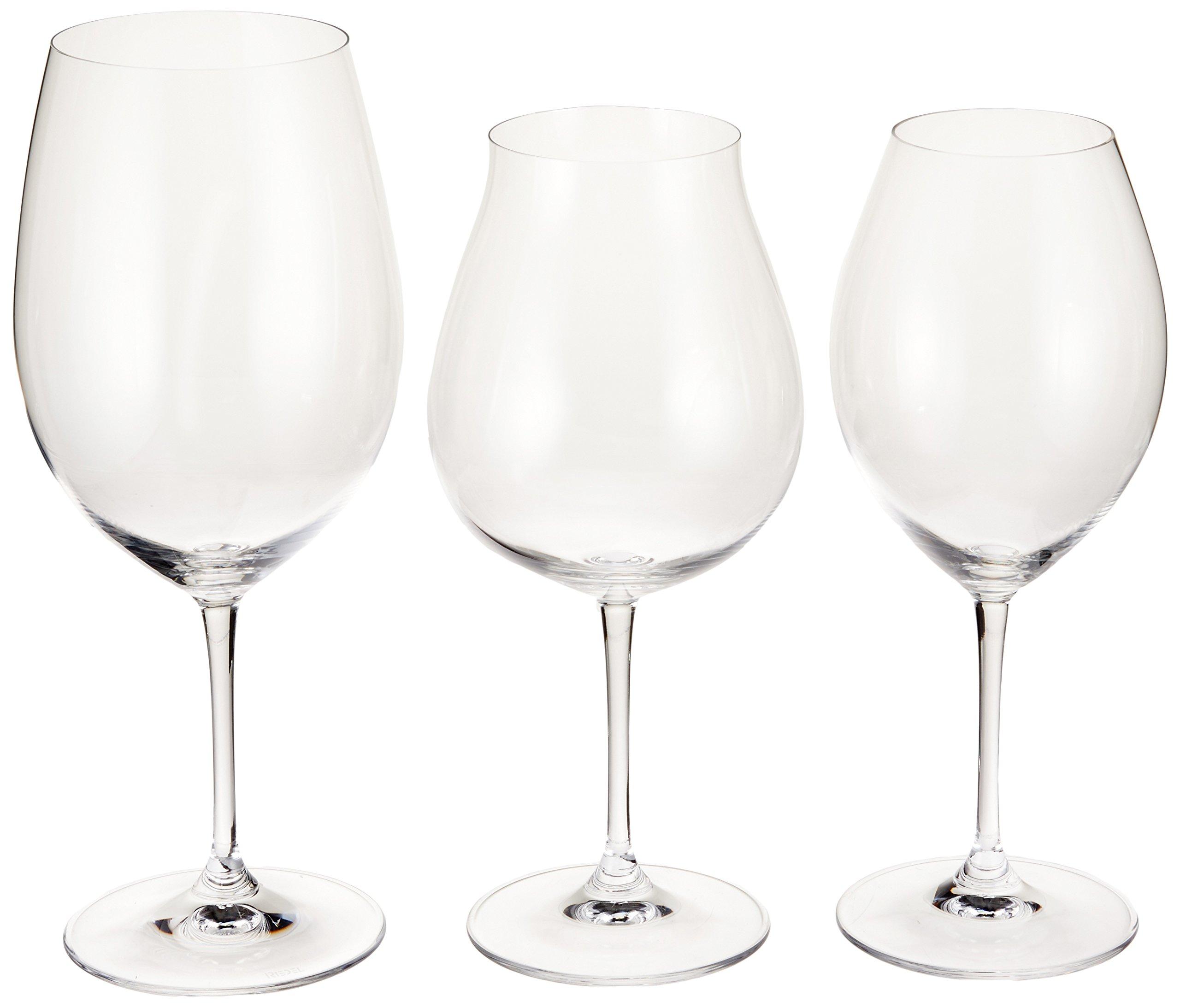 Riedel VVE-035 Vinum Red Wine Tasting Set (3 Piece), X-Large, Clear
