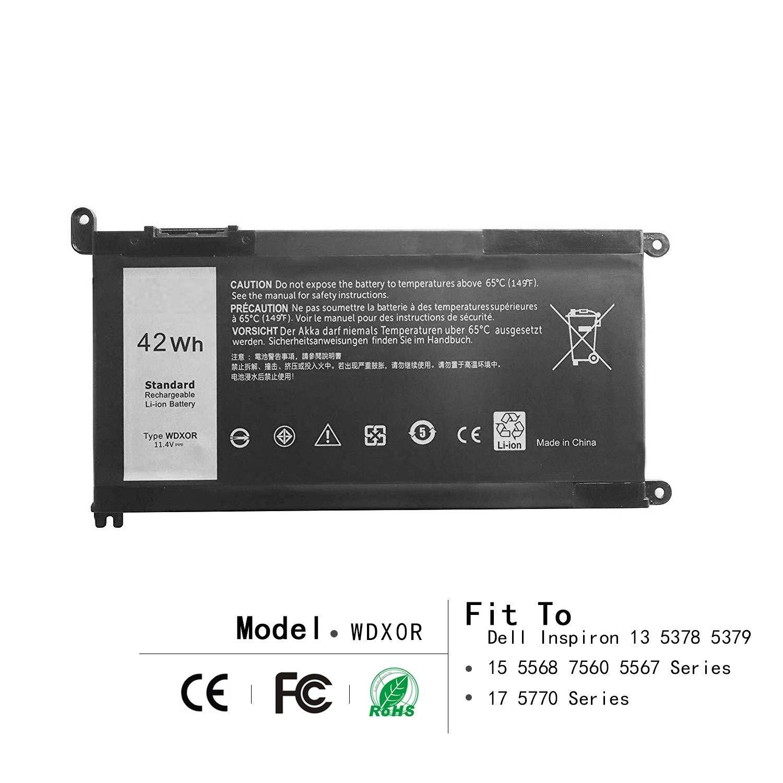 Bateria 42wh Wdx0r Para Dell Inspiron 13 5368 5378 5379 7368 7378 15 5565 5567 5568 5578 7560 7570 7579 7569 P58f Series
