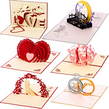 hearts, anniversary, Mother/'s Day POP UP 3D card elephants in love