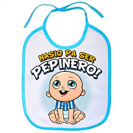 Babero nacido para ser Pepinero Leganés fútbol - Celeste