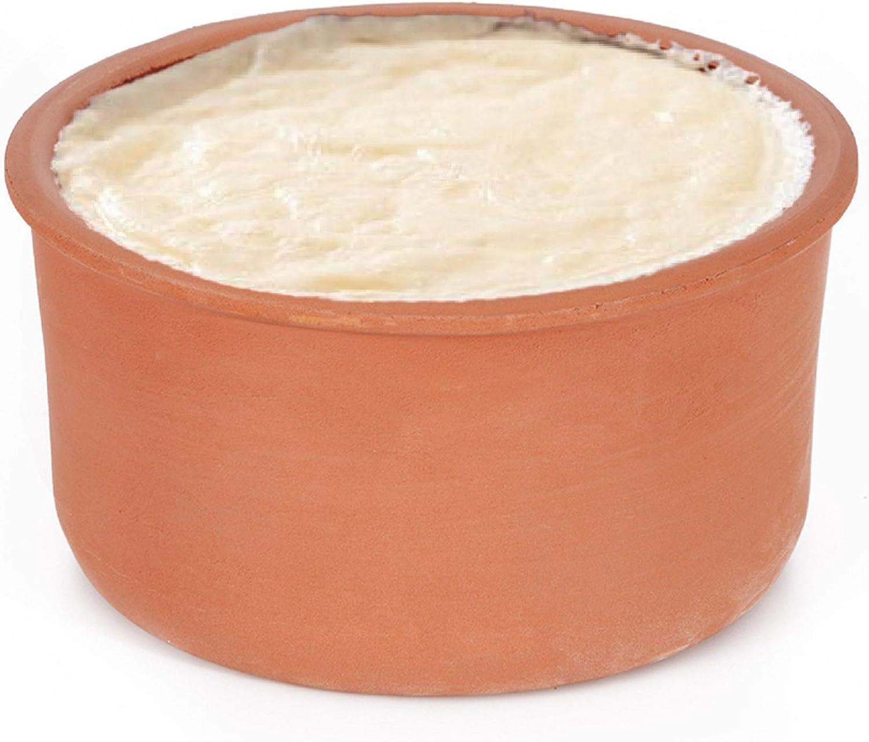 Clay Yogurt Pot, Glazed Terracotta Cookware, Clay Casserole Bowl for Cooking, 2.1 qt