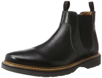 Clarks Herren Newkirk Hill Chelsea Boots, Schwarz (Black Leather), 45 EU 7d9f3de876