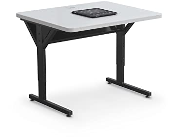 Balt Brawny Adjustable Height Mobile Training U0026 Maker Space Table,  36u0026quot;W X 30u0026quot