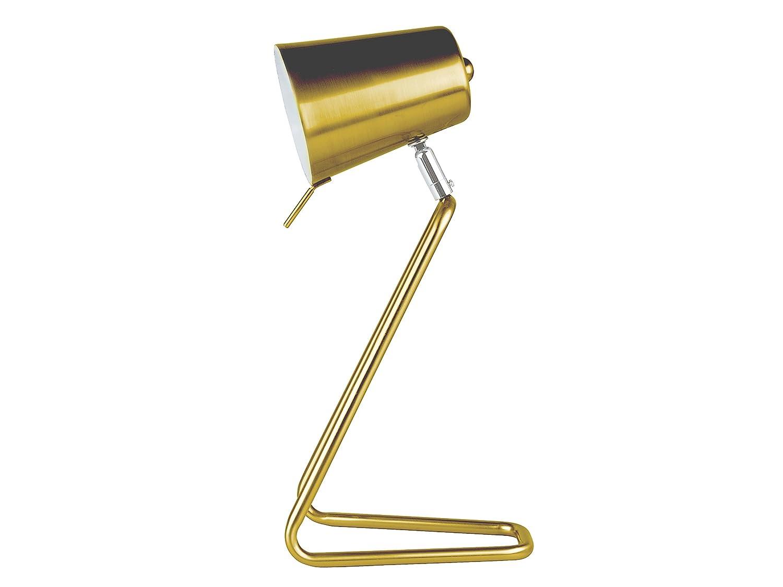 Leitmotiv LM1128 Z Design Metall Tischlampe, Kupfer mit satiniertem Finish, Durchmesser 9 cm, Höhe 35 cm [Energieklasse A++] Höhe 35 cm Present Time