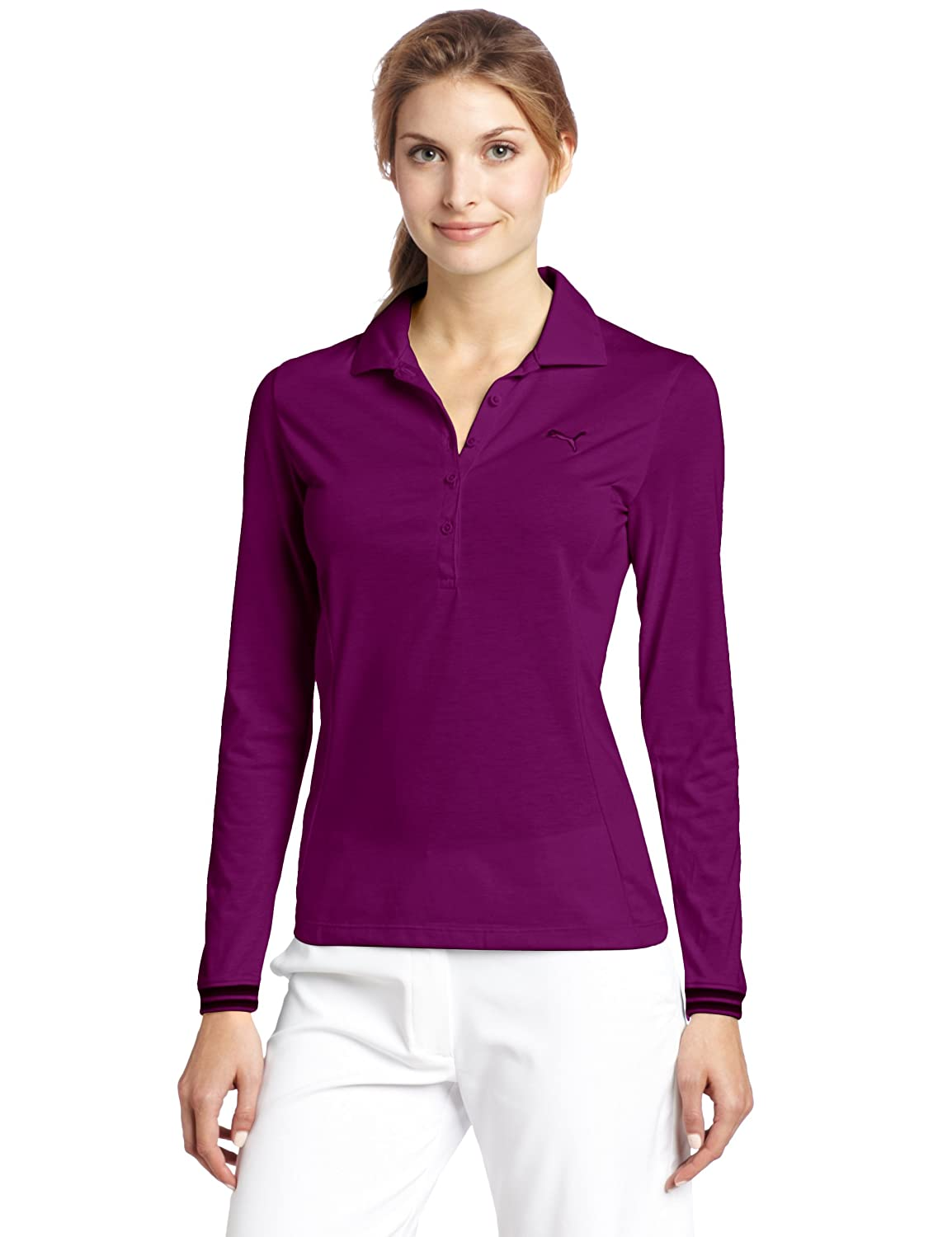 Amazon.com : Puma Golf Women's Sport Long Sleeve Polo Tee : Golf ...