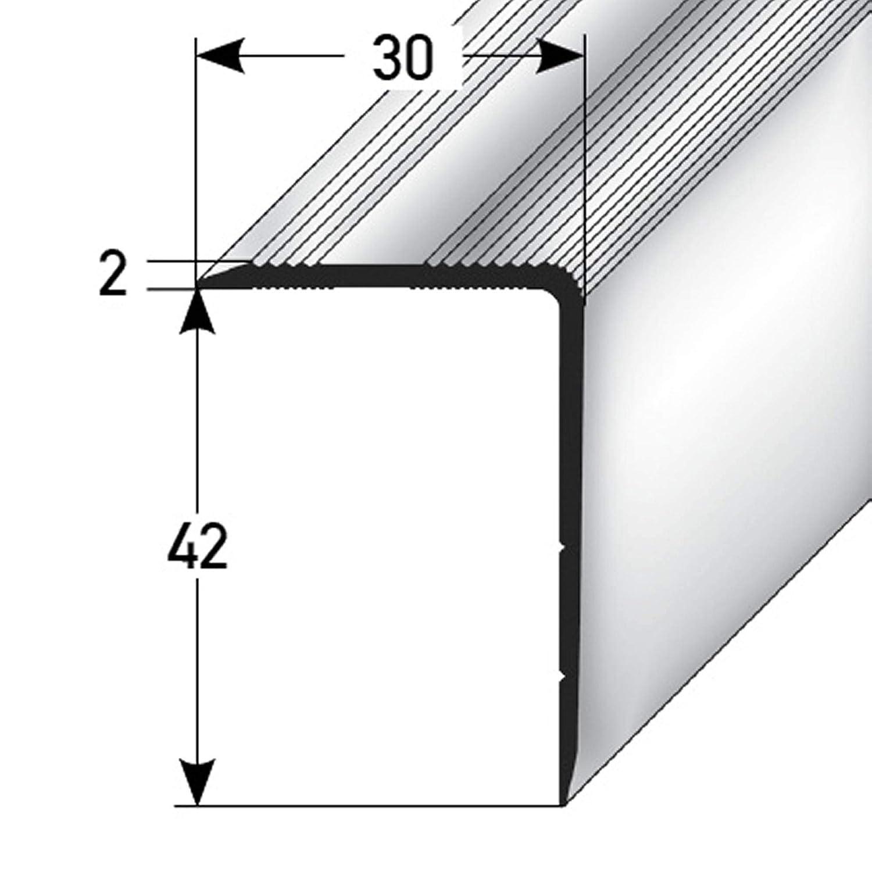 Profil dangle descalier bronze clair * Antid/érapant * Robuste * Montage facile profil descalier en aluminium 42x30mm acerto 51118 Profil dangle descalier en aluminium 135cm