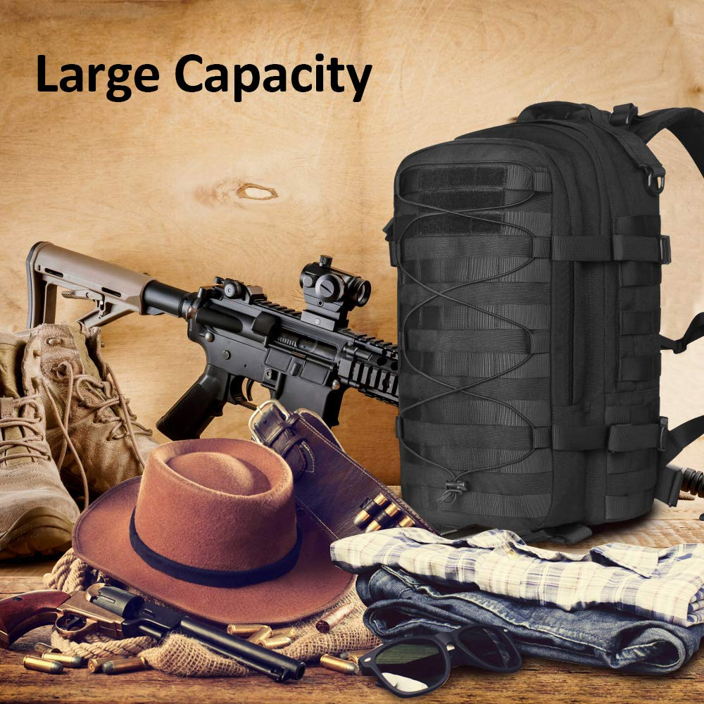 AIRSOFTPEAK Tactical Backpack Military Assault Pack Army Molle Bug Out Bag 1000D Nylon Daypack for Camping Hiking Travel by AIRSOFTPEAK (Image #6)