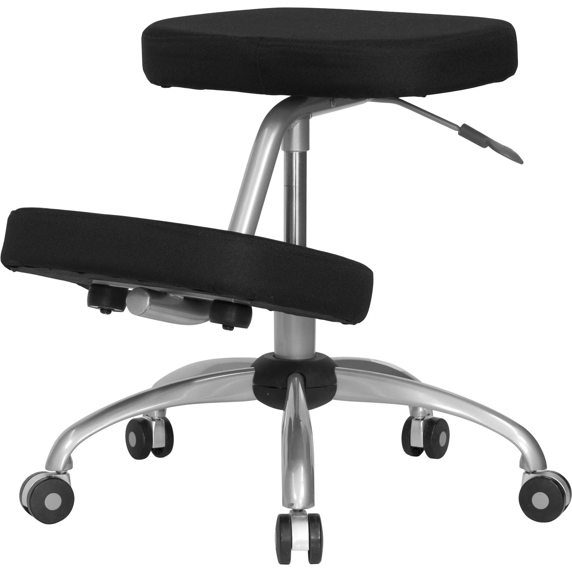 Delacora WL-1425-GG 18 Inch Wide Fabric Kneeling Chair with Pneumatic Seat Height Adjustment