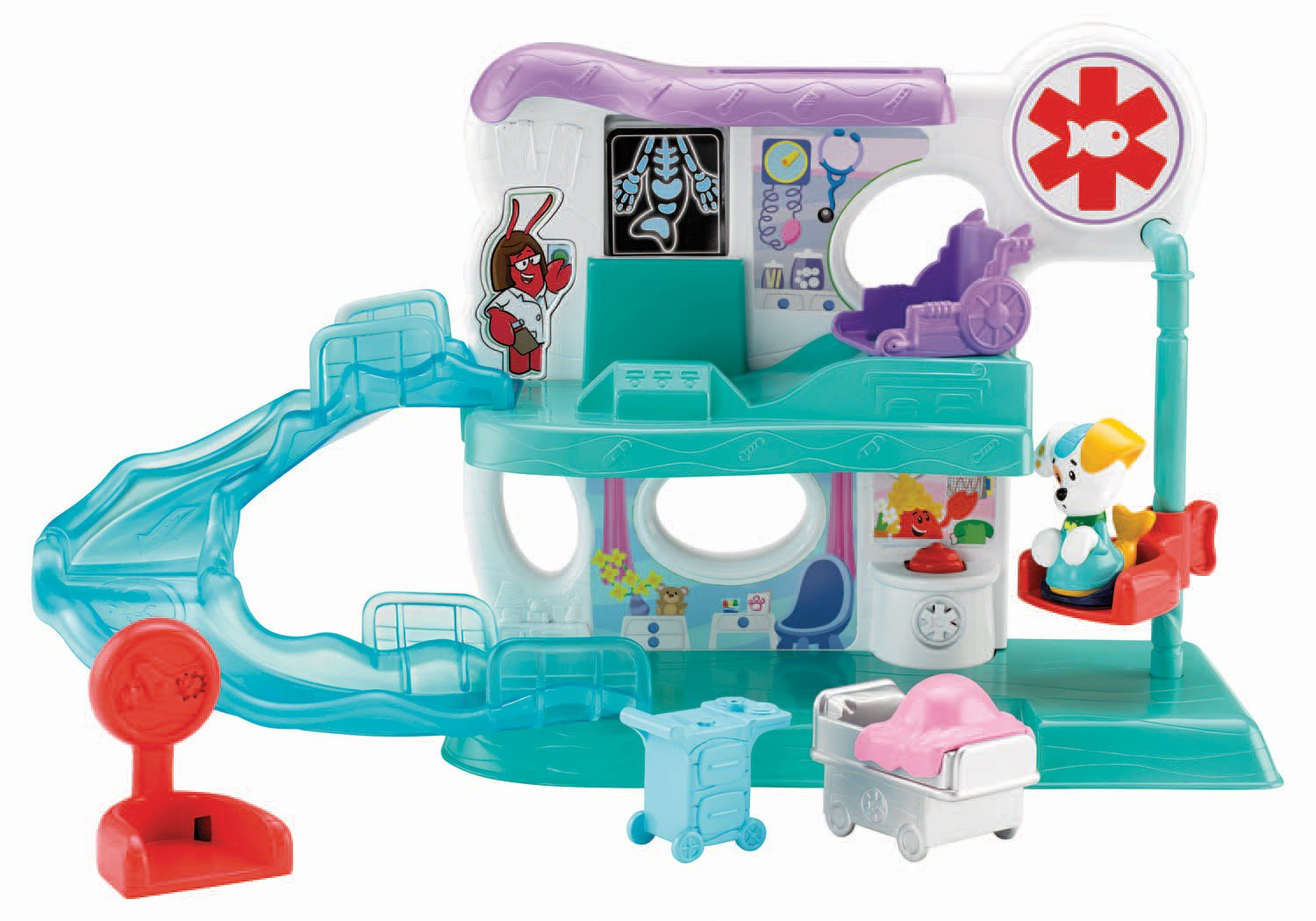 amazoncom fisher price bubble guppies check up center toys games