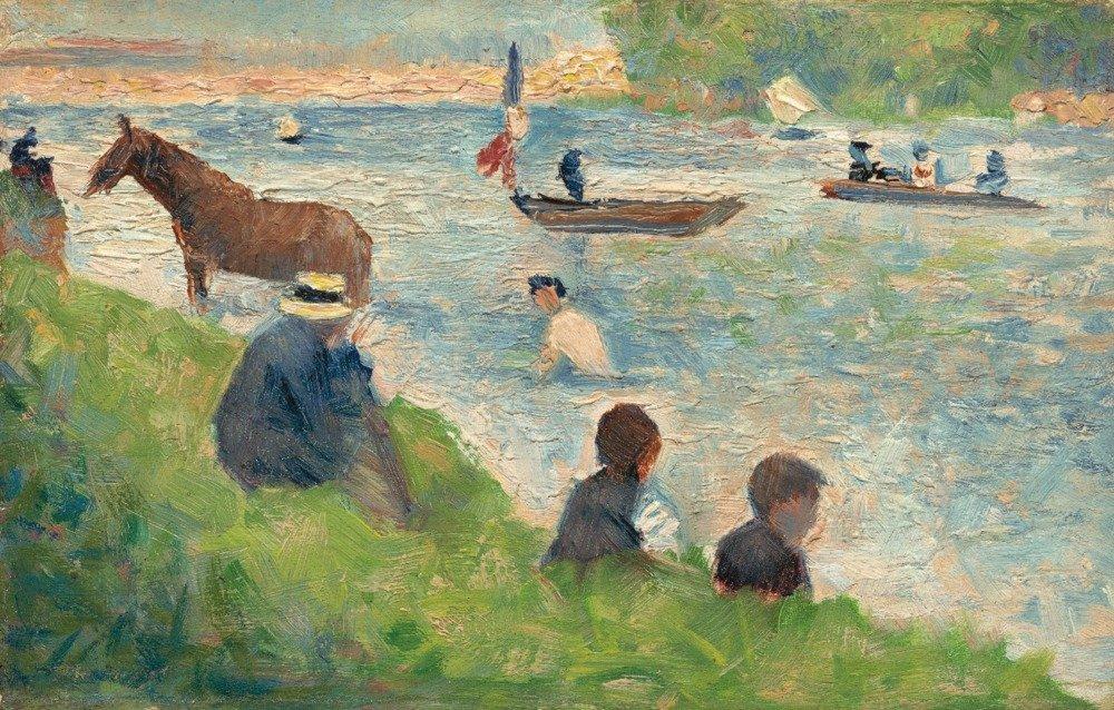 馬とボート( Study for Bathers at Asnieres ) – Masterpieceクラシック – アーティスト: Seurat C。1883 24 x 36 Giclee Print LANT-66218-24x36 B017ZLDAQ2  24 x 36 Giclee Print