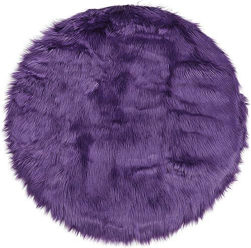uxcell Faux Sheepskin Area Rug Indoor Soft Fluff Carpet Rug