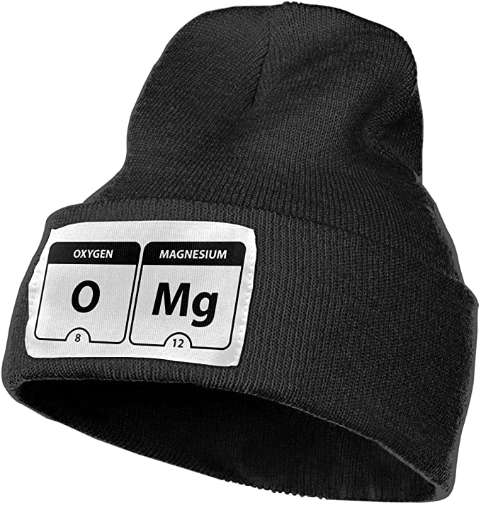 Adult OMG Periodic Table.PNG Winter Acrylic Knit Beanie Hat Skull ...