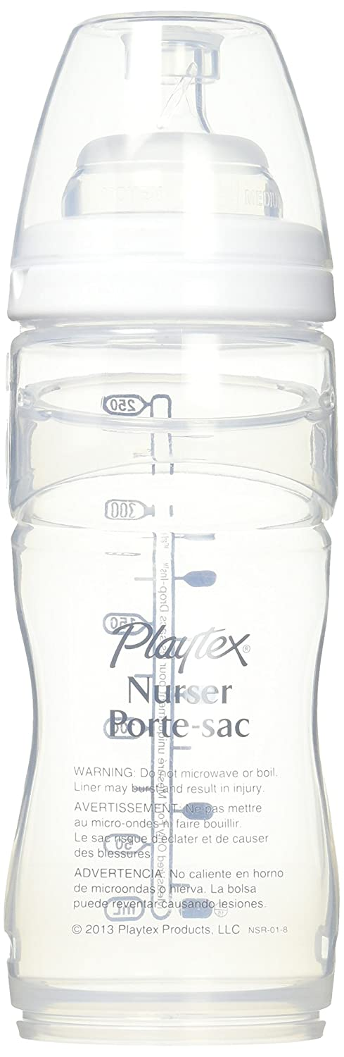 Playtex Nurser Drop-Ins Liners Premium 8-10 oz BPA-Free Bottle 1 ea (Pack of 1) Playtex Baby KC013294