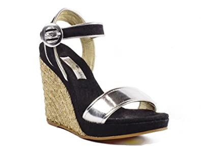 c4fcdc3f788a Image Unavailable. Image not available for. Color  Maypol Espadrille Sandal  Wedges ...