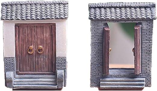 Hobbit calvinista ornamentos del jardín de hadas (2 puertas) puerta: Amazon.es: Jardín
