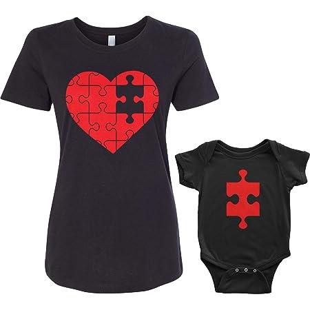 Threadrock Heart & Missing Piece Infant Bodysuit & Women's T-Shirt Matching Set