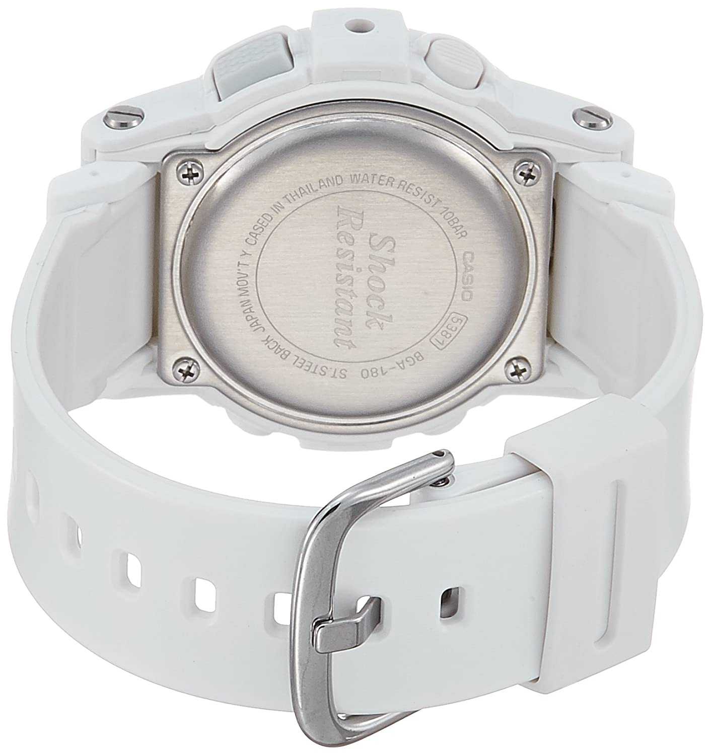 Casio Baby G For Women White Ana Digi Dial Resin Band Watch Bga 180 7b1 Watches