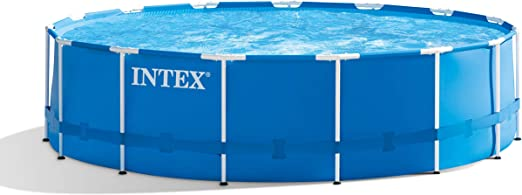 INTEX Metal Pool Set de Piscina, Azul, 457 cm de diámetro x 122 cm ...