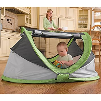 PeaPod Plus Baby Travel Bed With Inflatable Air Mattress