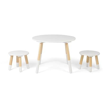 Sedie E Tavoli In Legno Per Bambini.Kledio Tavolino Per Bambini Con Sedie In Legno Bianco Set Mobili