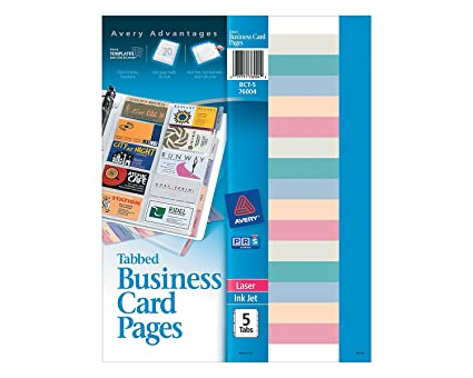 Amazon averyr business card holder refill sheets nonstick averyr business card holder refill sheets nonstick tabbed pack of 5 reheart Choice Image