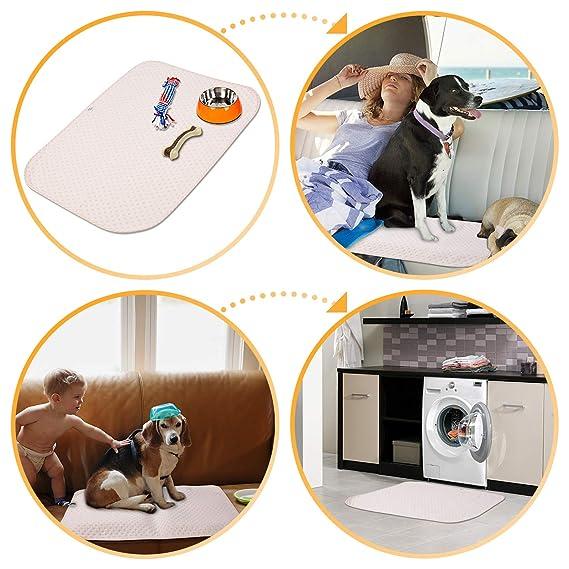 Yangbaga Empapadores Perros, Pañales Perro Lavable y Reutilizables Empapadores de Entrenamiento para Cachorros - 4pc (50 * 70cm): Amazon.es: Productos para ...