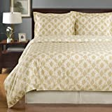 Linen and Ivory Sierra 3-piece King / Cal-king Comforter Cover (Duvet-Cover-Set) 100 % Cotton 300 TC