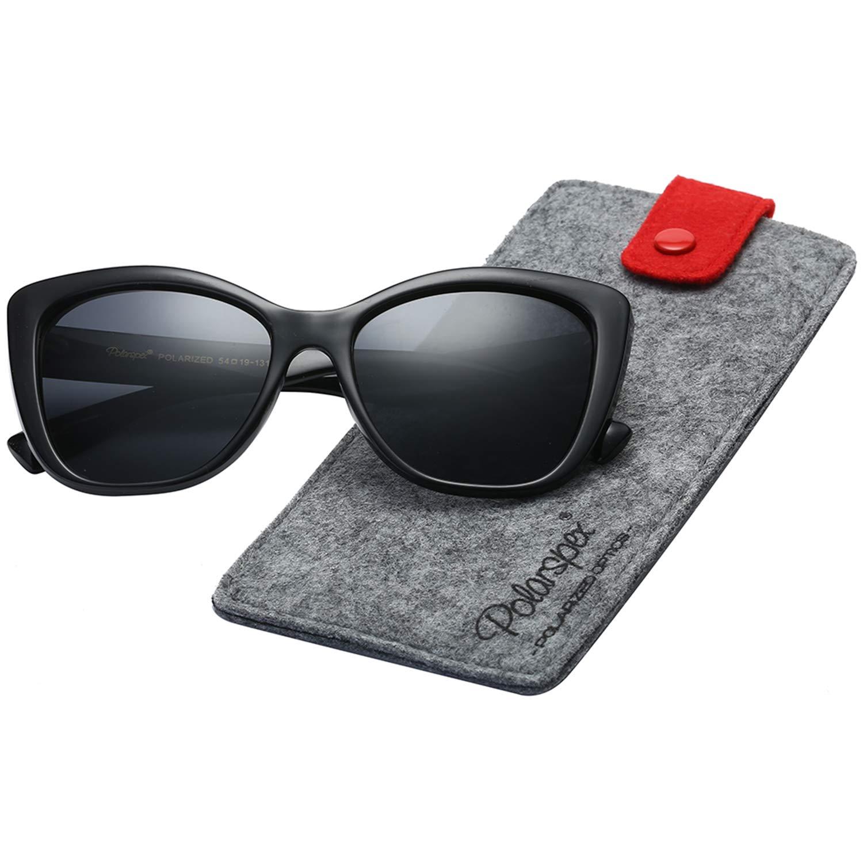 Polarspex Polarized Women's Vintage Square Jackie O Cat Eye Fashion Sunglasses
