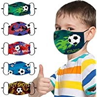 5PC Children Kids Outdoor Washable Cotton Mouth Masks Face Masks Reusable, Can Install Filter