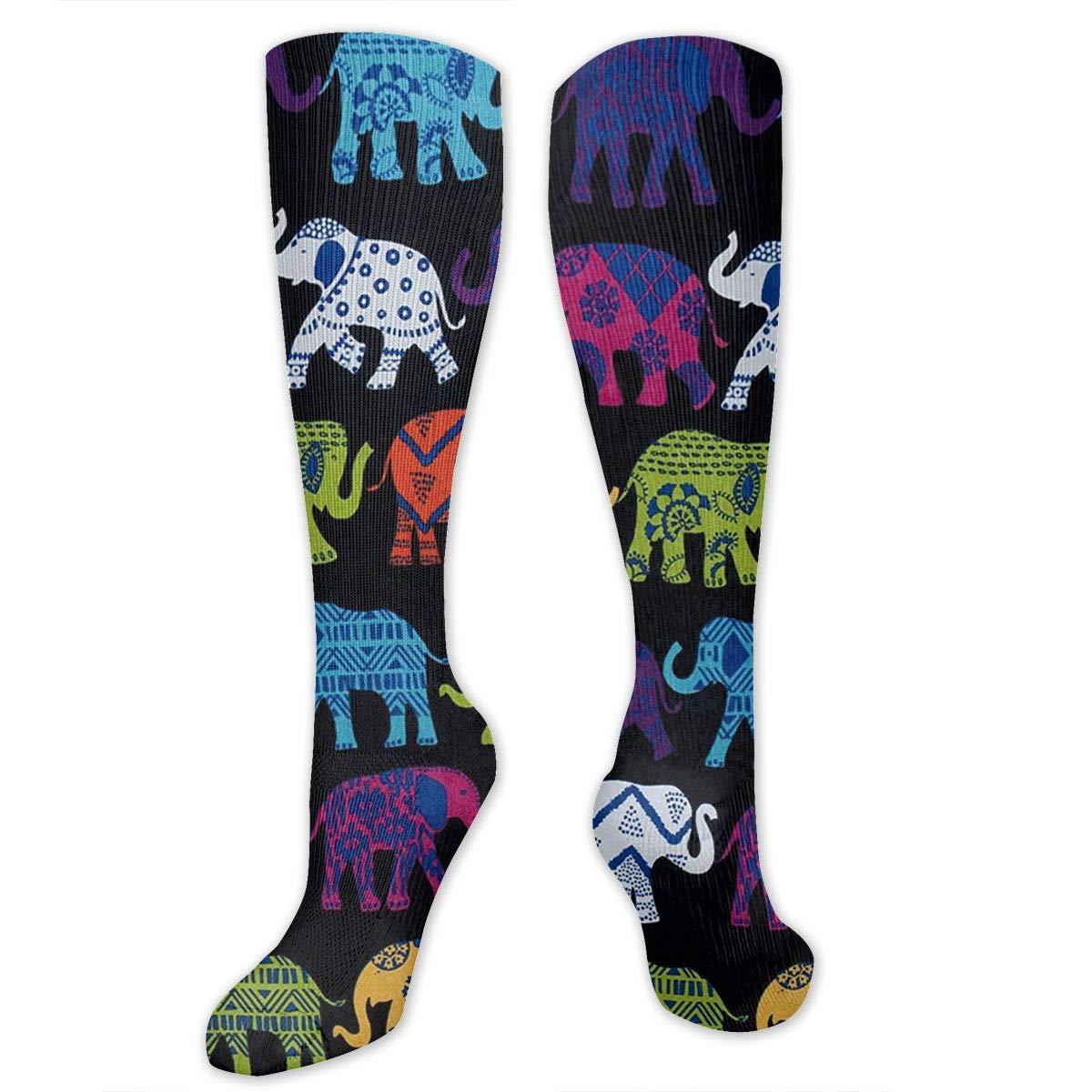Varicose Veins Ygsdf59 Black Elephants Compression Socks for Women and Men Best Medical,for Running Athletic Travel