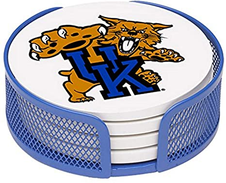 Thirstystone Stoneware Drink Coaster Set With Holder University Of Kentucky Kitchen Dining