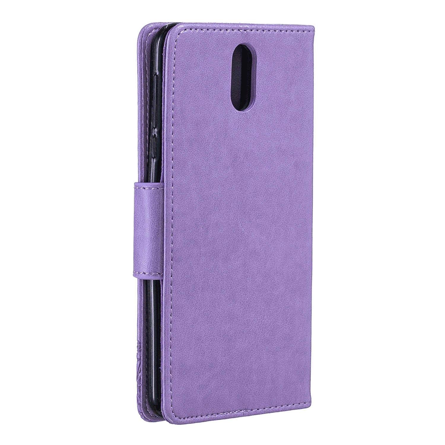 Cover for iPhone XR Leather Extra-Protective Business Card Holders Kickstand Cell Phone case with Free iPhone XR Flip Case