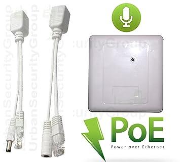 USG CCTV 1 x micrófono & 1 x Kit de alimentación PoE 100 pies Max Cable