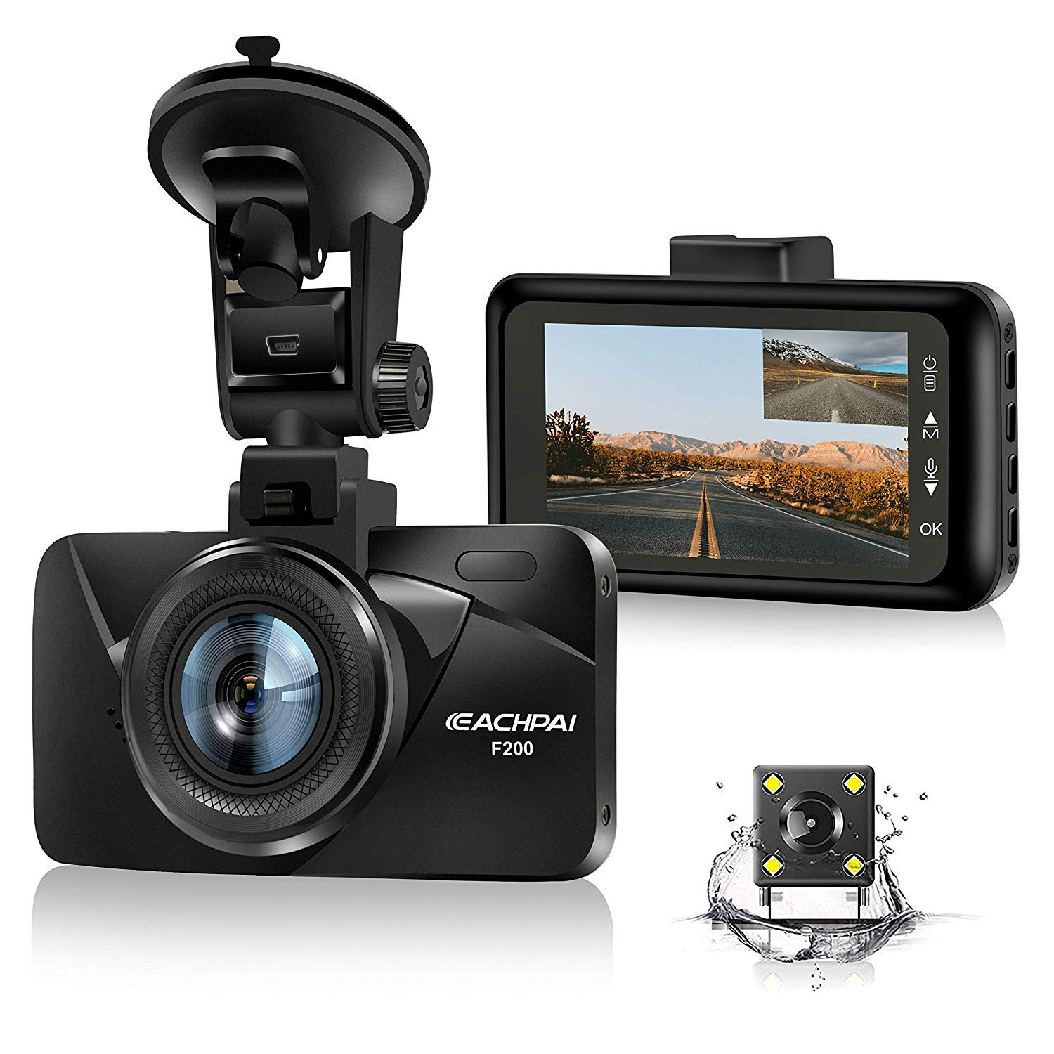 Dual Dash Cam Car Dashboard Camera Recorder FHD 1080P Front and Rear Cameras for Cars,Driving Loop Recording,3.0'' IPS Screen 170°Wide Angle, G-Sensor, Night Vision, Motion Detection