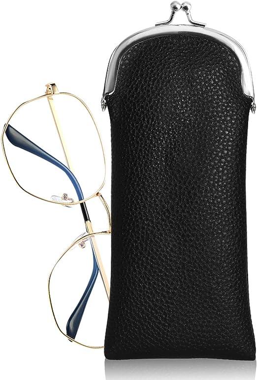 Hifot Funda Gafas de Sol 3 Piezas, PU Cuero Suave Estuche Gafas Almacenaje, Bolsa Gafas para Mujer niña: Amazon.es: Hogar