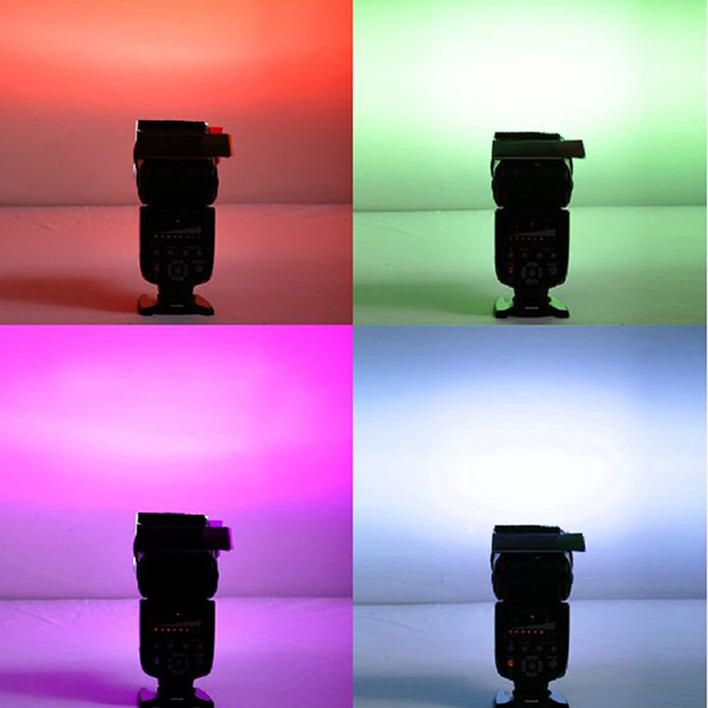 12 un filtro de cámara Flash Strobist Difusor de luz colores surtidos tarjeta juego de película