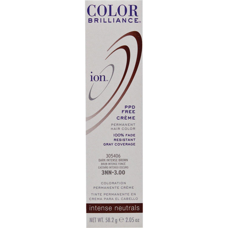 Amazon Ion 3nn Dark Intense Brown Permanent Creme Hair Color