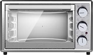 SMETA Countertop Convection Toaster Oven Air fryer 0.9 Cu.Ft 1800 W for 6 Slices of Bread, 12'' Pizza, Stainless Steel