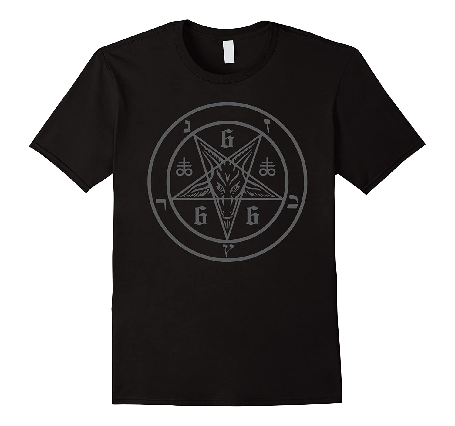 Satanic Pentagram 666 (Sigil of the Devil) Baphomet T-Shirt-T-Shirt