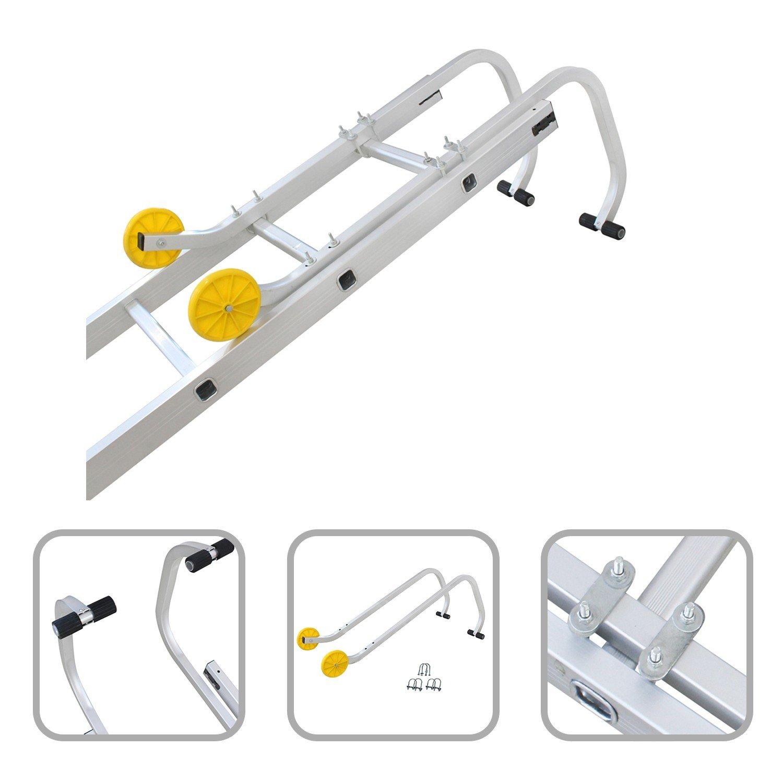 Todeco - Leiter-Dachhaken, Universal-Dachhaken fü r Leiter - Maximale Belastbarkeit: 150 kg - Material: Stahl - 0,93 Meter, EN 131
