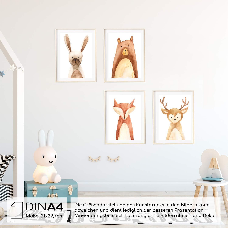 Frechdax® 4er Set Kinderzimmer Poster Babyzimmer Bilder DIN A4 ...