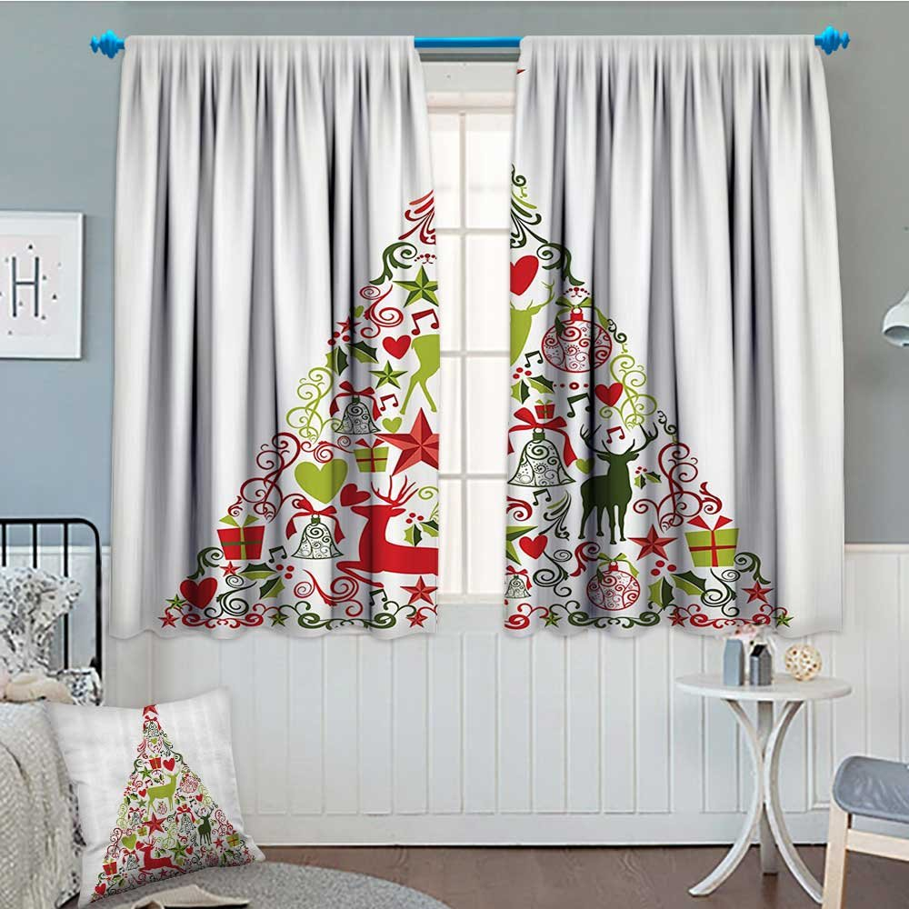 Christmas Decorations Collection Waterproof Window Curtain Merry