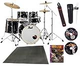 Pearl ドラムセット EXX725S/C #31ジェットブラック シンバル付ドラムフルセット DVD3枚他豪華特典付き限定セット