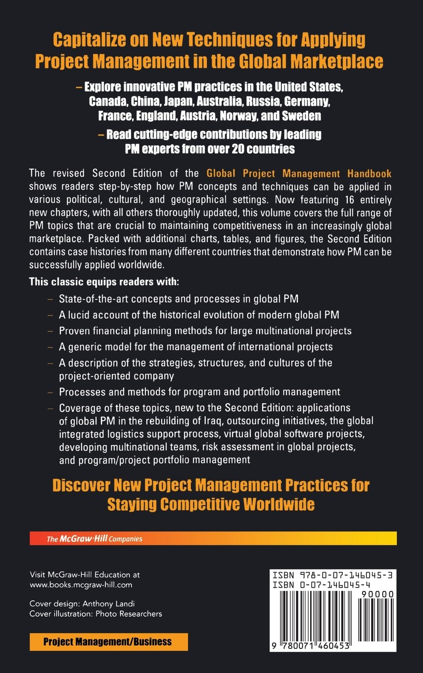 Global Project Management Handbook: Planning, Organizing and Controlling International Projects, Second Edition: Planning, Organizing, and Controlling International Projects