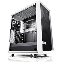Fractal Design Meshify C - TG Midi-Tower Transparente, Blanco gabinete de computadora - Caja de Ordenador (Midi-Tower, PC, Vidrio, ATX,ITX,Micro-ATX, Transparente, Blanco, 17.2 cm)