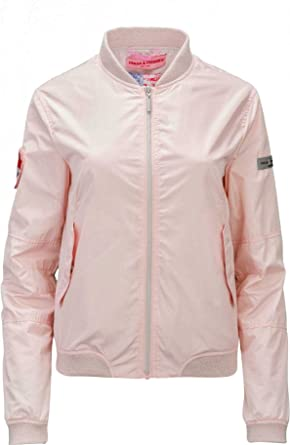d849a5cbca1133 Frieda & Freddies New York Damen Jacke Blouson-Jacke, Farbe: Rosa, Größe
