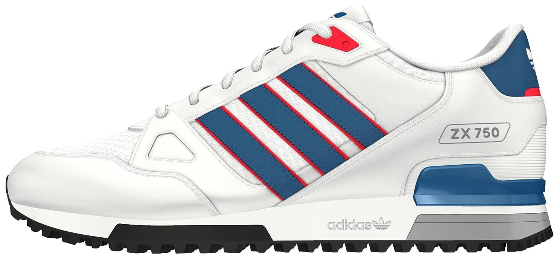 adidas, Grey (Ftwr WhiteUnity BlueRay Red), 1 UK 36 EU