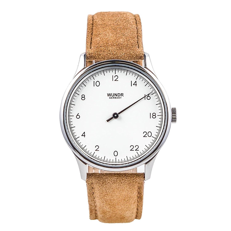 WUNDRWATCH – die 24h Einzeigeruhr fÜr Herren mit WechselarmbÄndern (Schweizer Uhrwerk | Italienisches Leder | Wasserdicht